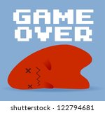 Game Over - stock vector