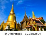 wat pra kaew  grand palace in... | Shutterstock . vector #122803507