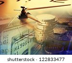 finance background with clock... | Shutterstock . vector #122833477