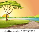 illustration of a river and a... | Shutterstock .eps vector #122858917