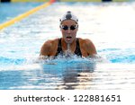 MILAN, ITALY - SEPT 21:  Alessia Filippi swimming champion during the performance september 21, 2008 in Milan, ITALY - stock photo