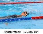 MILAN, ITALY - SEPT 20:  Alessia Filippi swimming champion during the performance september 20, 2008 in Milan, ITALY - stock photo