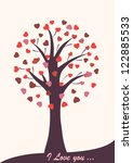 tree beautiful with hearts for... | Shutterstock .eps vector #122885533
