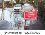 car ignoring road closed... | Shutterstock . vector #122886427