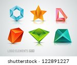abstract logo elements | Shutterstock .eps vector #122891227