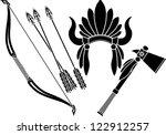 american indian headdress ... | Shutterstock .eps vector #122912257
