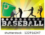 silhouettes of baseball players ... | Shutterstock .eps vector #122916247