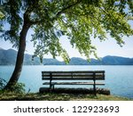 Bench At The Walchensee In...