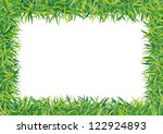frame grass - stock vector