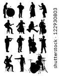 musicians | Shutterstock .eps vector #122930803