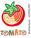 Vector illustration of tomato vegetable symbol background.
