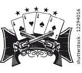 poker and guns emblem | Shutterstock .eps vector #12294016