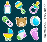 vector set of colorful baby... | Shutterstock .eps vector #122940577