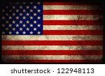 grunge usa flag background | Shutterstock . vector #122948113