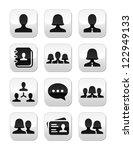 man woman user vector buttons... | Shutterstock .eps vector #122949133