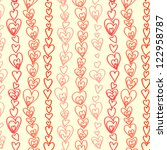 red hearts garland seamless... | Shutterstock .eps vector #122958787