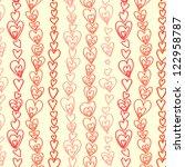 red hearts garland seamless... | Shutterstock .eps vector #122958787