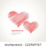 design template   eps10 heart... | Shutterstock .eps vector #122969767