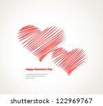 design template   eps10 heart... | Shutterstock .eps vector #122969767