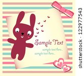 baby shower with cute rabbit | Shutterstock .eps vector #122977543
