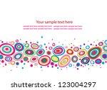 abstract vector background | Shutterstock .eps vector #123004297