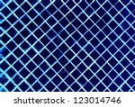 silver blue mosaic for background - stock photo