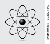 Atom Part On White Bakground...
