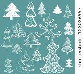 illustration of set of... | Shutterstock .eps vector #123036997