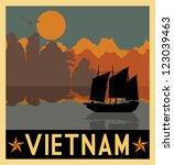 illustration of vietnam... | Shutterstock .eps vector #123039463