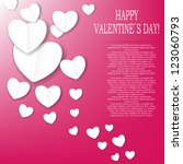 valentines day paper heart... | Shutterstock .eps vector #123060793