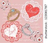 valentine romantic retro... | Shutterstock .eps vector #123081787