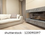 interior of living room with... | Shutterstock . vector #123090397