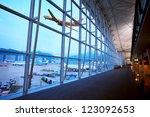 hong kong airport | Shutterstock . vector #123092653