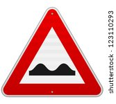 bumpy road sign   european red... | Shutterstock .eps vector #123110293
