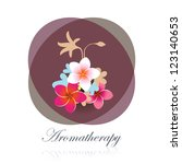 aromatherapy flower bouquet spa ... | Shutterstock .eps vector #123140653