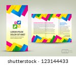 brochure triangles colorful | Shutterstock .eps vector #123144433