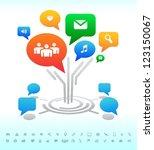 social media. tree forum chat... | Shutterstock .eps vector #123150067