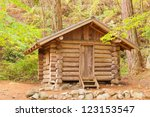 Old Solid Log Cabin Shelter...
