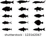 vector silhouettes of sea and... | Shutterstock .eps vector #123162067