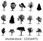 trees  vector  | Shutterstock .eps vector #12316471