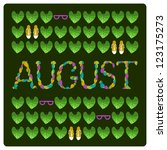 august colorful title  with... | Shutterstock .eps vector #123175273