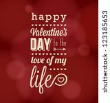 happy valentine's day card | Shutterstock .eps vector #123185653