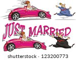 just married | Shutterstock .eps vector #123200773