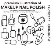 Nail Polish. Hand Drawn