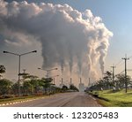 Smoke From Coal Power Plant ...
