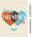 vintage valentines day type... | Shutterstock .eps vector #123216817