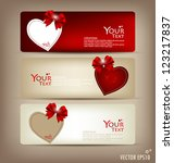 collection of gift cards and... | Shutterstock .eps vector #123217837