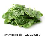 Heap of spinach leaves - stock photo