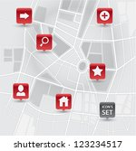 vector modern map city... | Shutterstock .eps vector #123234517