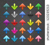 25 glossy arrow button with... | Shutterstock .eps vector #123235213
